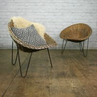 Mid Century Wicker Tub Chair by Conran  2 in stock | Tub ...