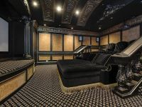 Traditional Home Theater with Chair rail, Bliss Lounger ...