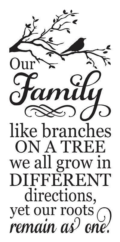 Family STENCIL Our Family like branches on a by