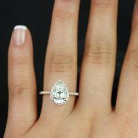 GIA Certified 2.00 Ct Flawless Pear Cut Diamond Engagement ...