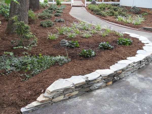flagstone retaining wall ideas
