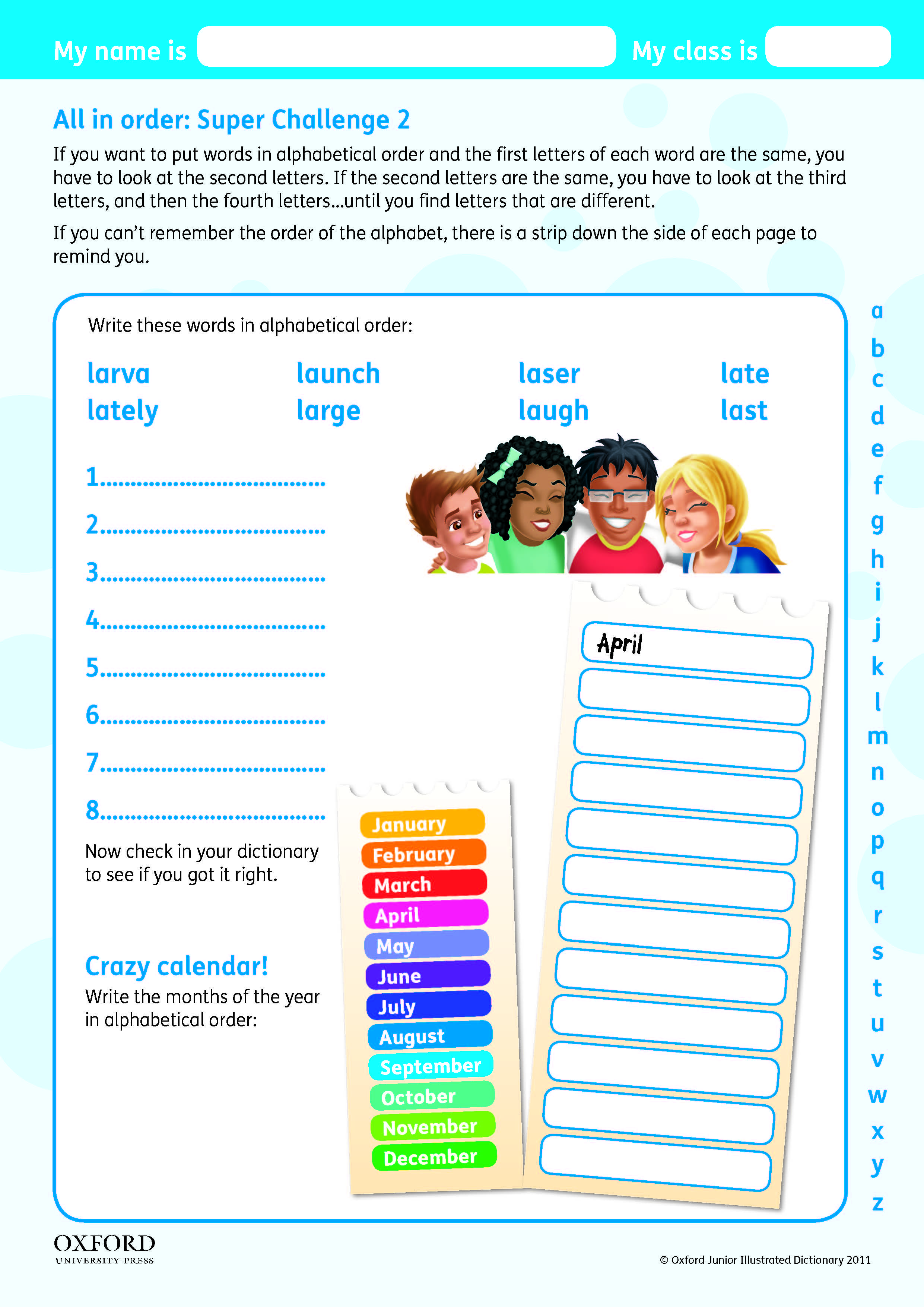 Download Your Free Oxford Junior Illustrated Dictionary Super Challenge Worksheet Teach