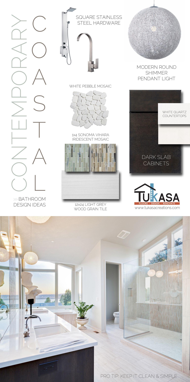 Contemporary Coastal Bathroom Design Ideas #remodeling #home