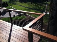 New wood top rail option for Alumarail systems.