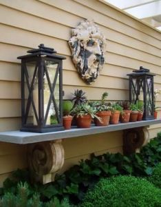 An outdoor mantel for that bare wall also outdoors pinterest rh