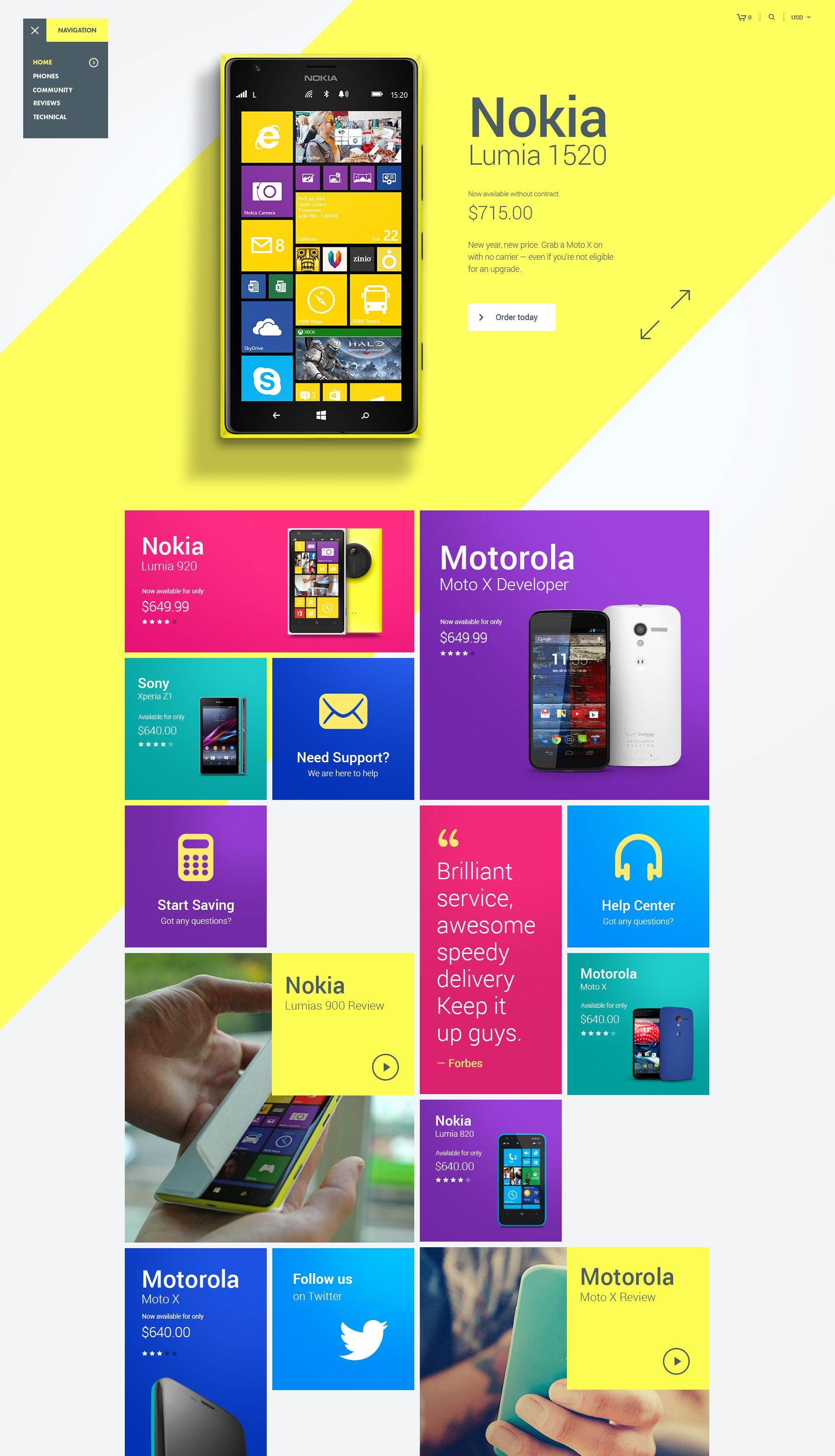 Homepage design by julien renvoye grid colorful neon modern product page also rh pinterest