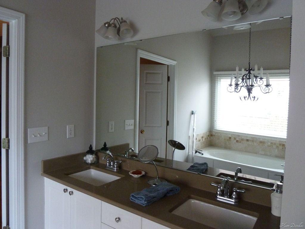 DIY Framed Mirror Using Standard Moldings