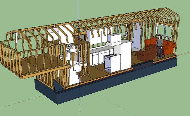Awesome Tiny House Design On A Gooseneck Trailer