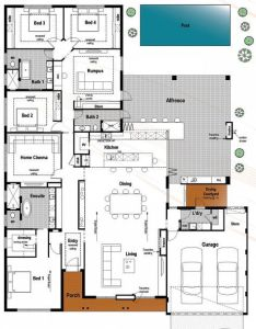 Floor plan friday bedroom bathroom with modern skillion roof katrina chambers also rh nz pinterest