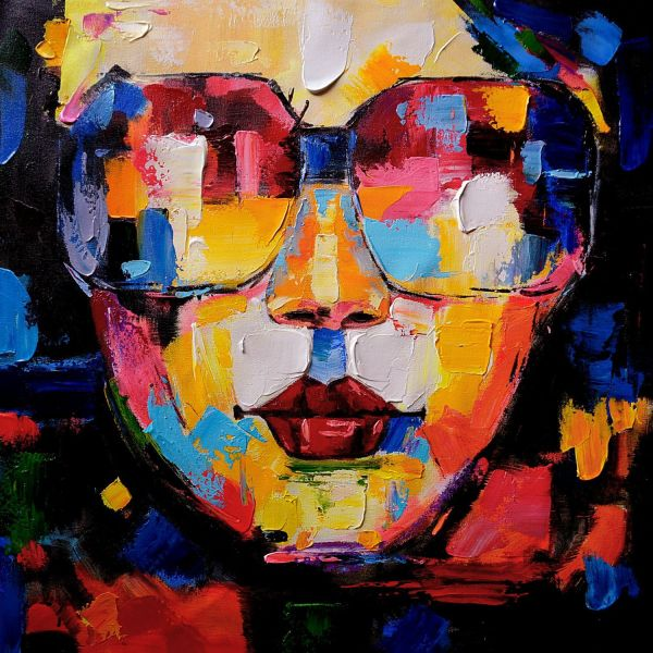 Wall Art Women Face Abstract Painting Handmade Oil