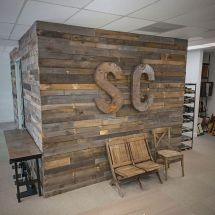 Pallet Wall Office Renovation Pallets Walls And Salons