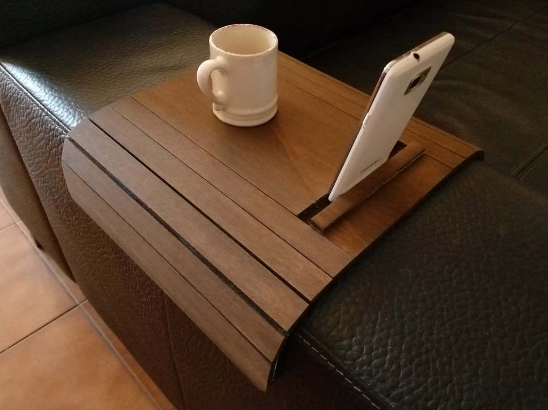 sofa arm tray wood belgian classic slope slipcovered trays flexible wooden armrest table the