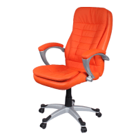 Orange Leather Office Chair | Leather Office Chair ...