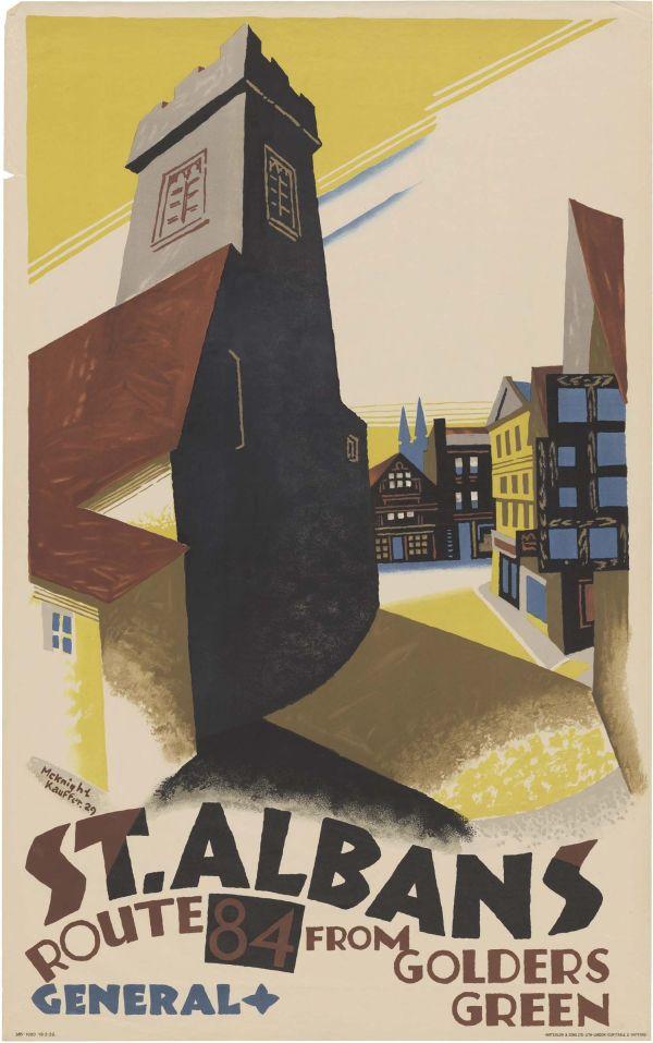 London Public Transport Posters 1900s