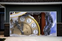 Christmas Garage Door Covers 3d Banners Christmas Clock ...