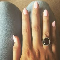 Baby pink almond nails   n a i l s   Pinterest   Almond ...