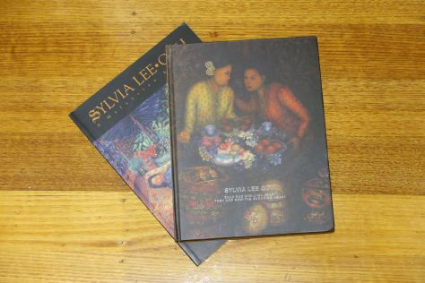 Two books of my grand-aunty Sylvia's artwork, given to me by the author. She autographed them both!