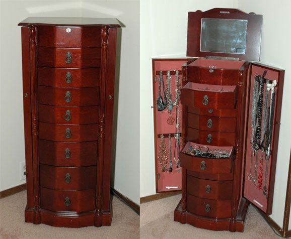 Best 25 Jewelry armoire ideas on Pinterest  DIY jewelry armoire DIY jewellery storage cabinet