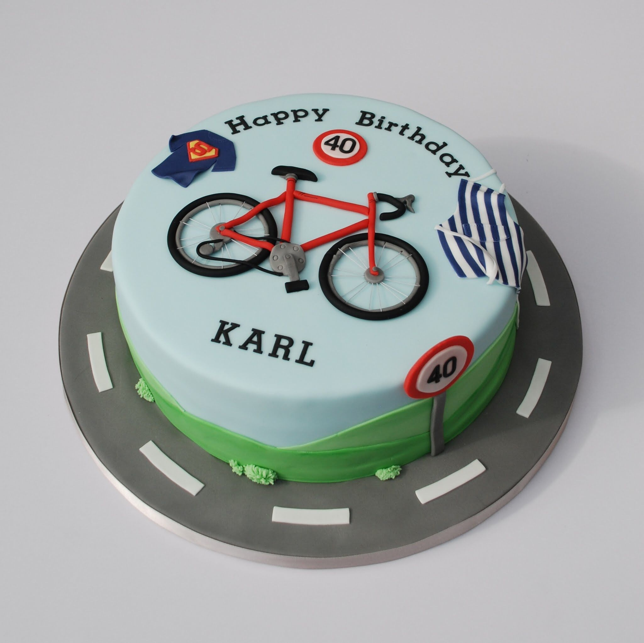 Birthday Cake For A Cycling Baking And Superman Fan