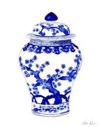 Blue and White Ginger Jar Vase No. 10 - ORIGINAL ...
