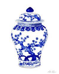 Blue and White Ginger Jar Vase No. 10 - ORIGINAL ...