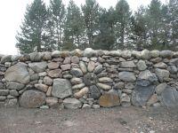 Rock Walls Landscaping   Stone flower design built into ...