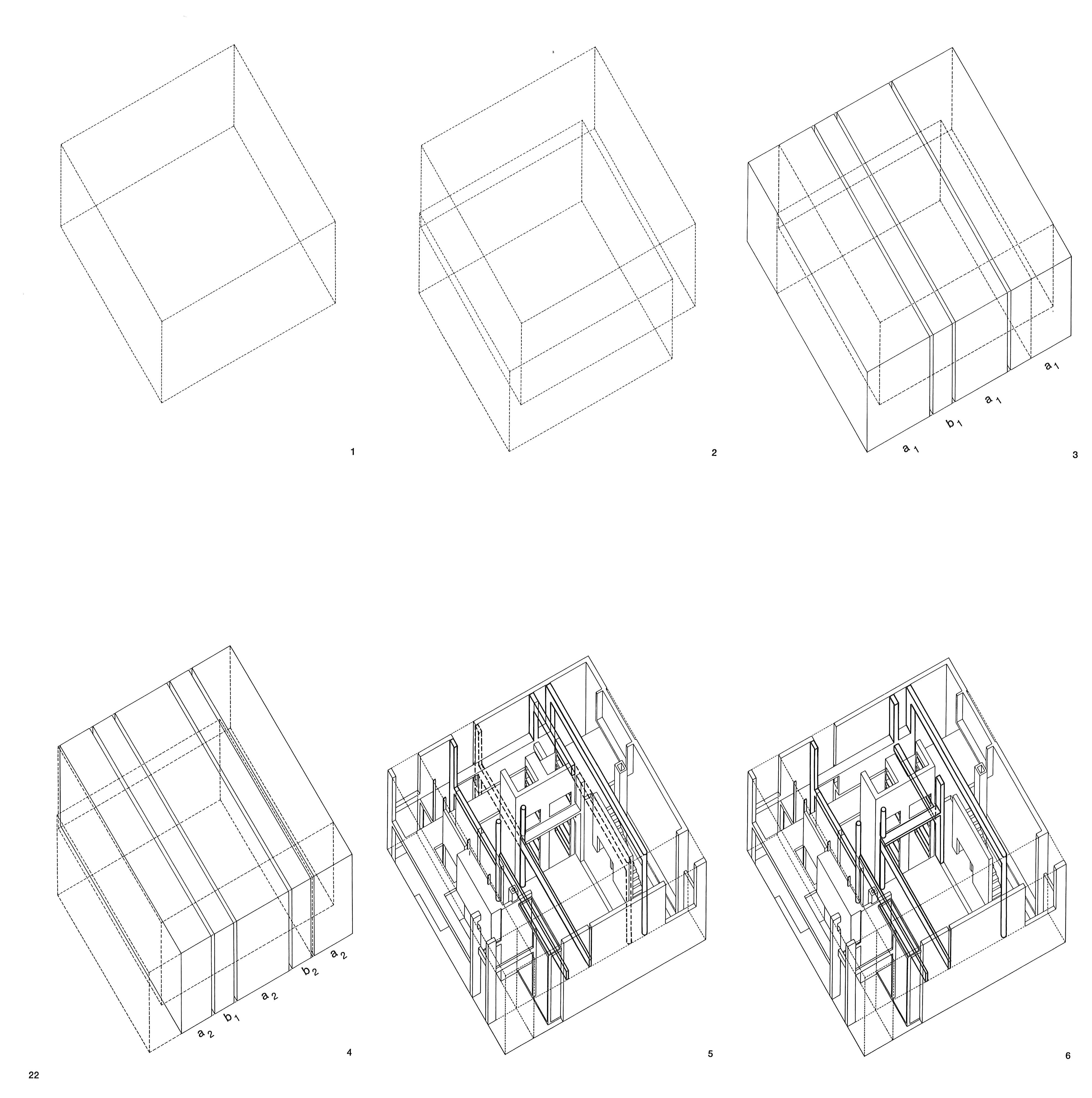 Peter Eisenman House 6 Diagrams