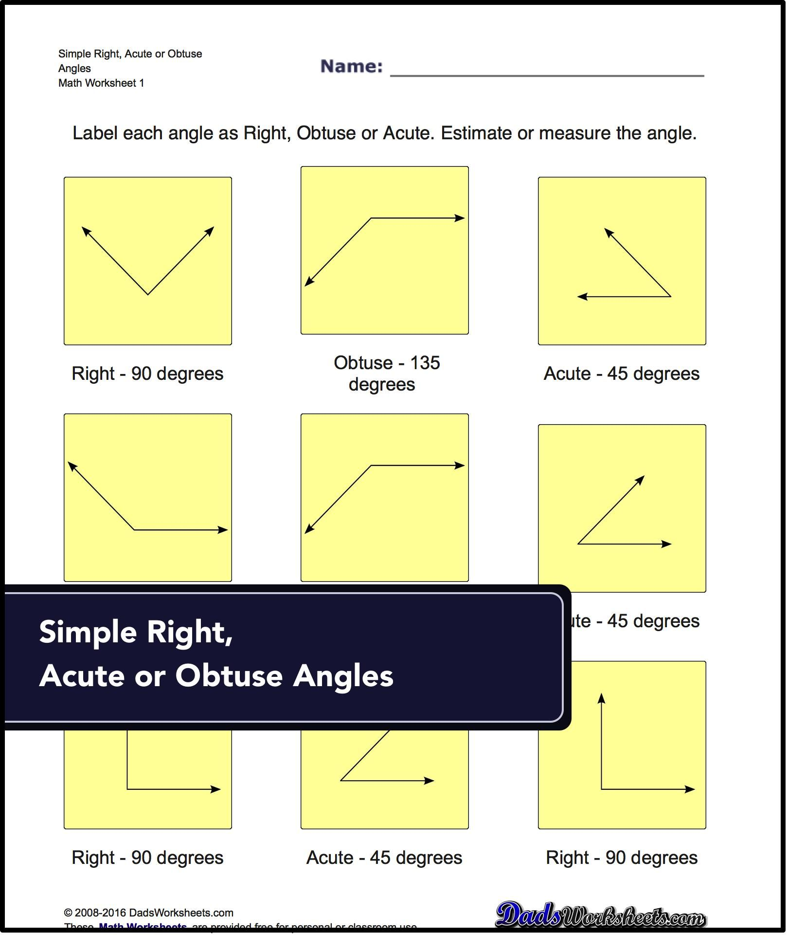 Basic Geometry Worksheets Topics Covered Angular
