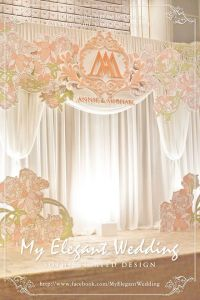 flower theme backdrop that is simple and elegant | Wedding ...