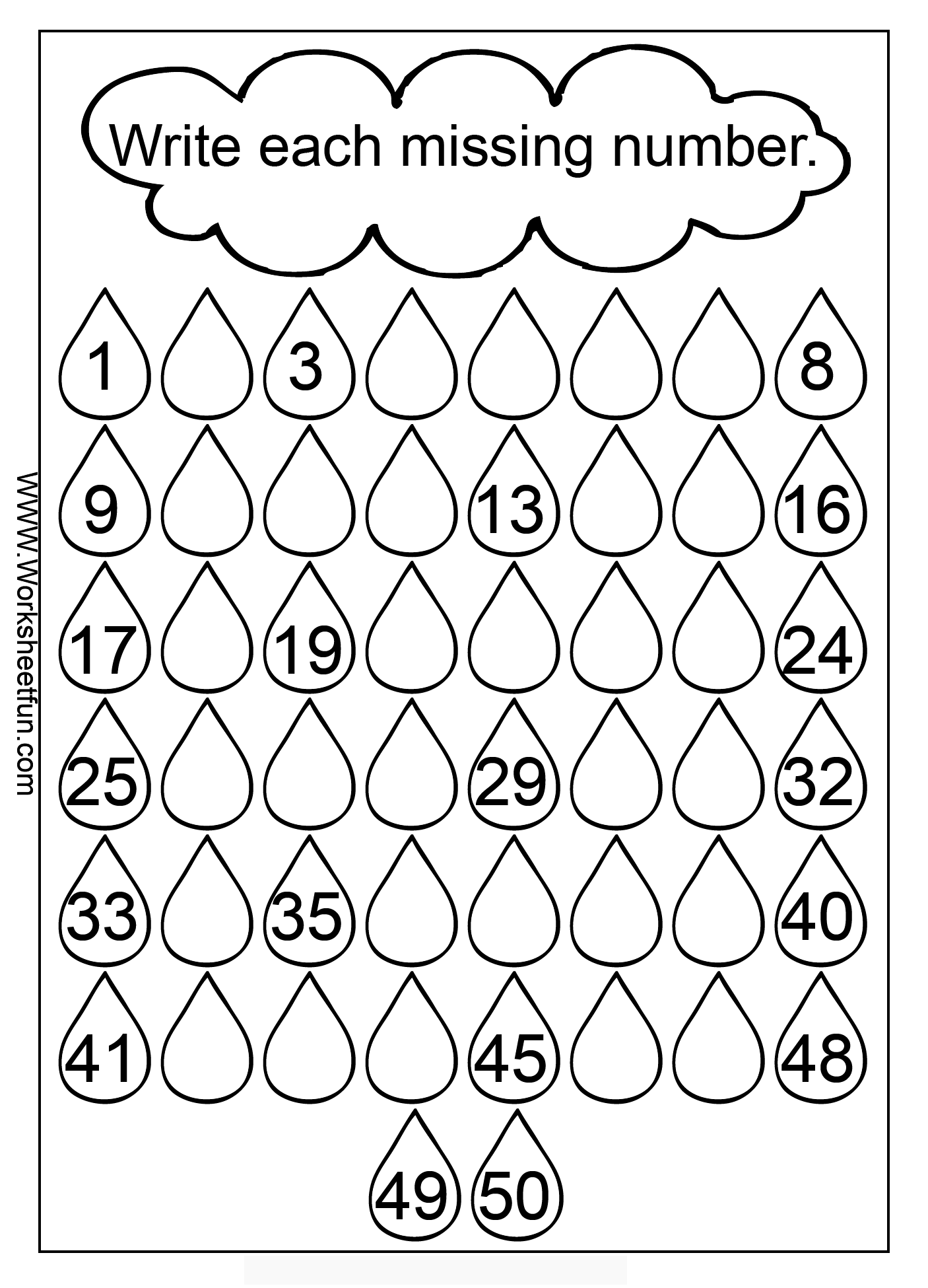 Counting 101 To 200 Worksheets