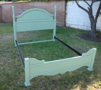 SHABBY CHIC FRENCH PROVINCIAL QUEEN BED FRAME IN MINT ...