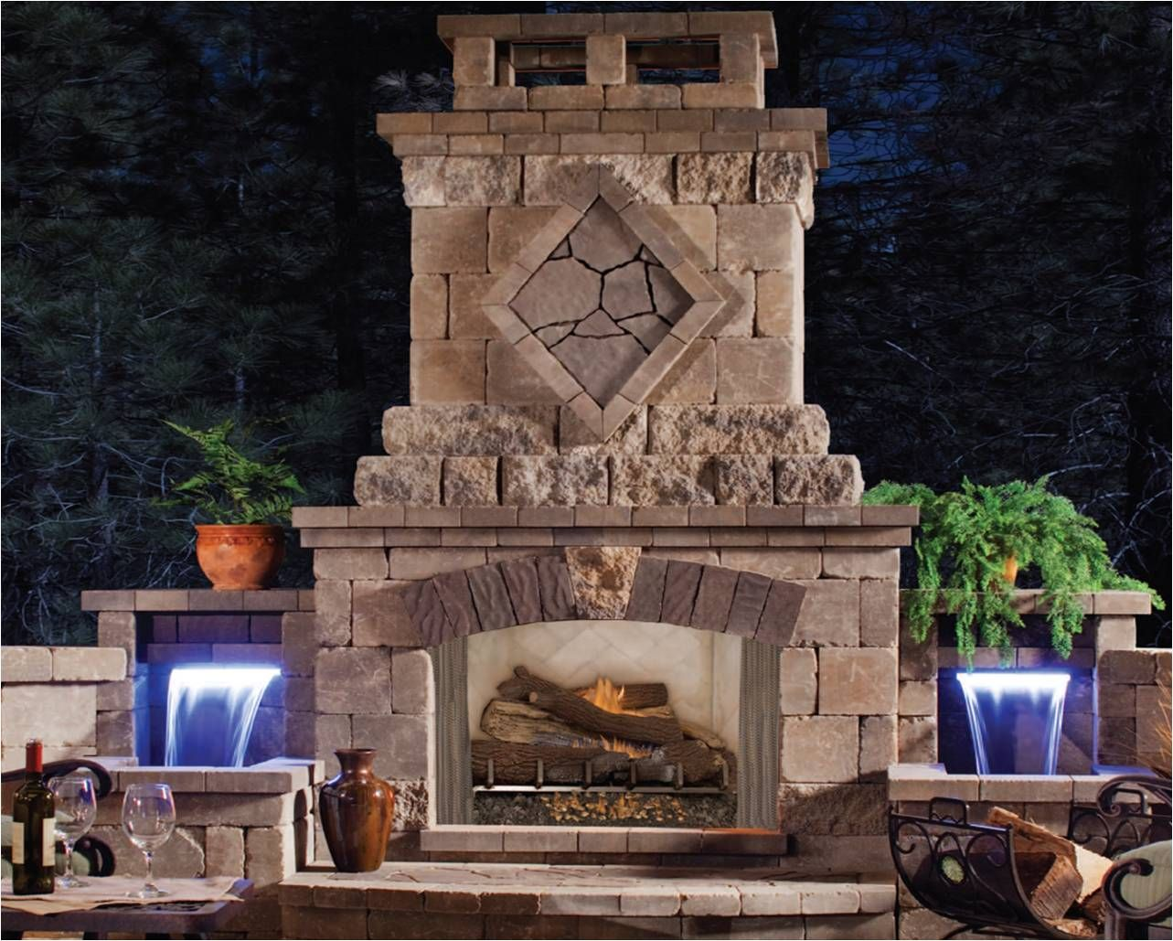 Outdoor Rooms with Fireplaces  The Venetian outdoor