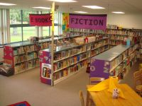 Elementary+Library+Decoration+Themes | Shelving was ...