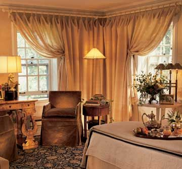 best color for living room with brown furniture decorating ideas dark 25+ corner window treatments on pinterest ...