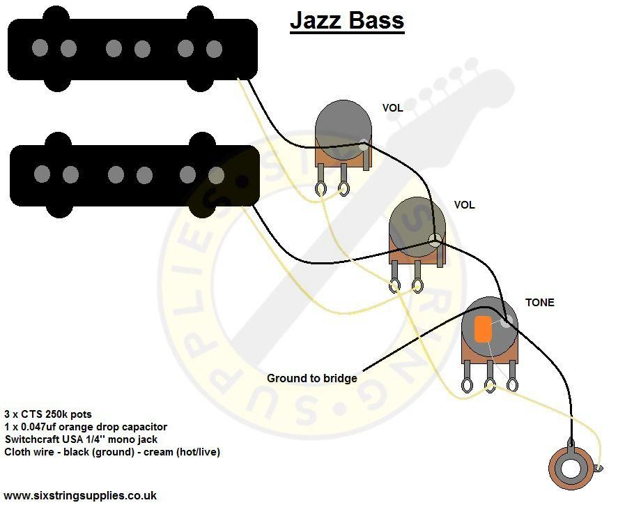 Jazz Bass Wiring Diagram Music Pinterest Bass Jazz And Guitars