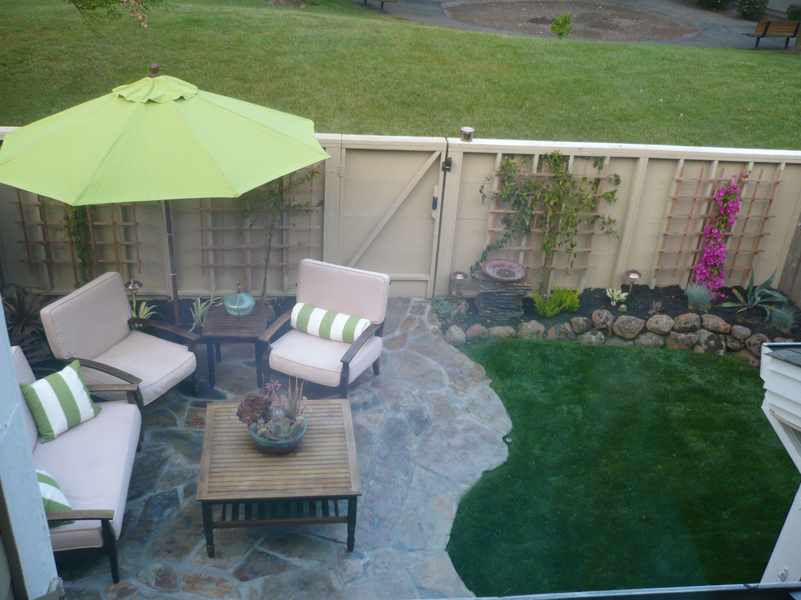 After Our Townhouse Backyard After Yard Pinterest Backyards
