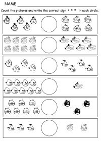 Comparing Numbers Picture Math: Angry Birds Greater than ...