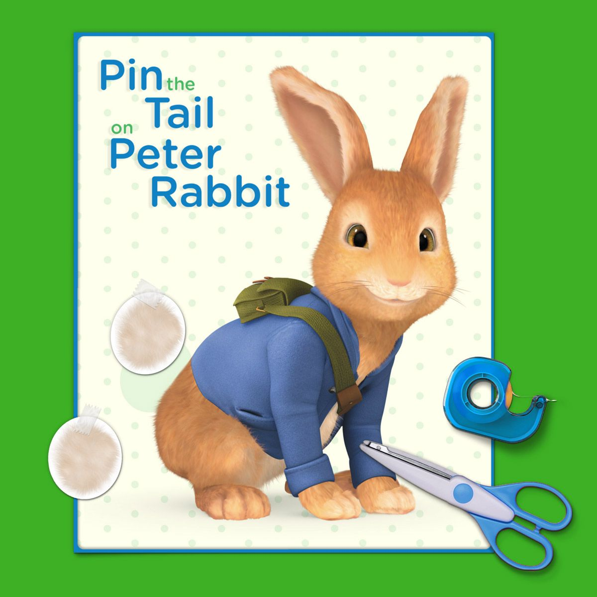 Pin The Fluffy Tail On Peter Rabbit
