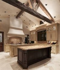 Style Tuscan Kitchen Design Ideas With Double Islands ...