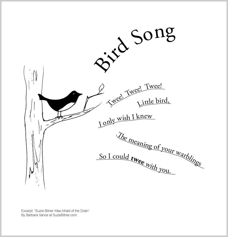 Cute spring children's poem about birds. Great for school