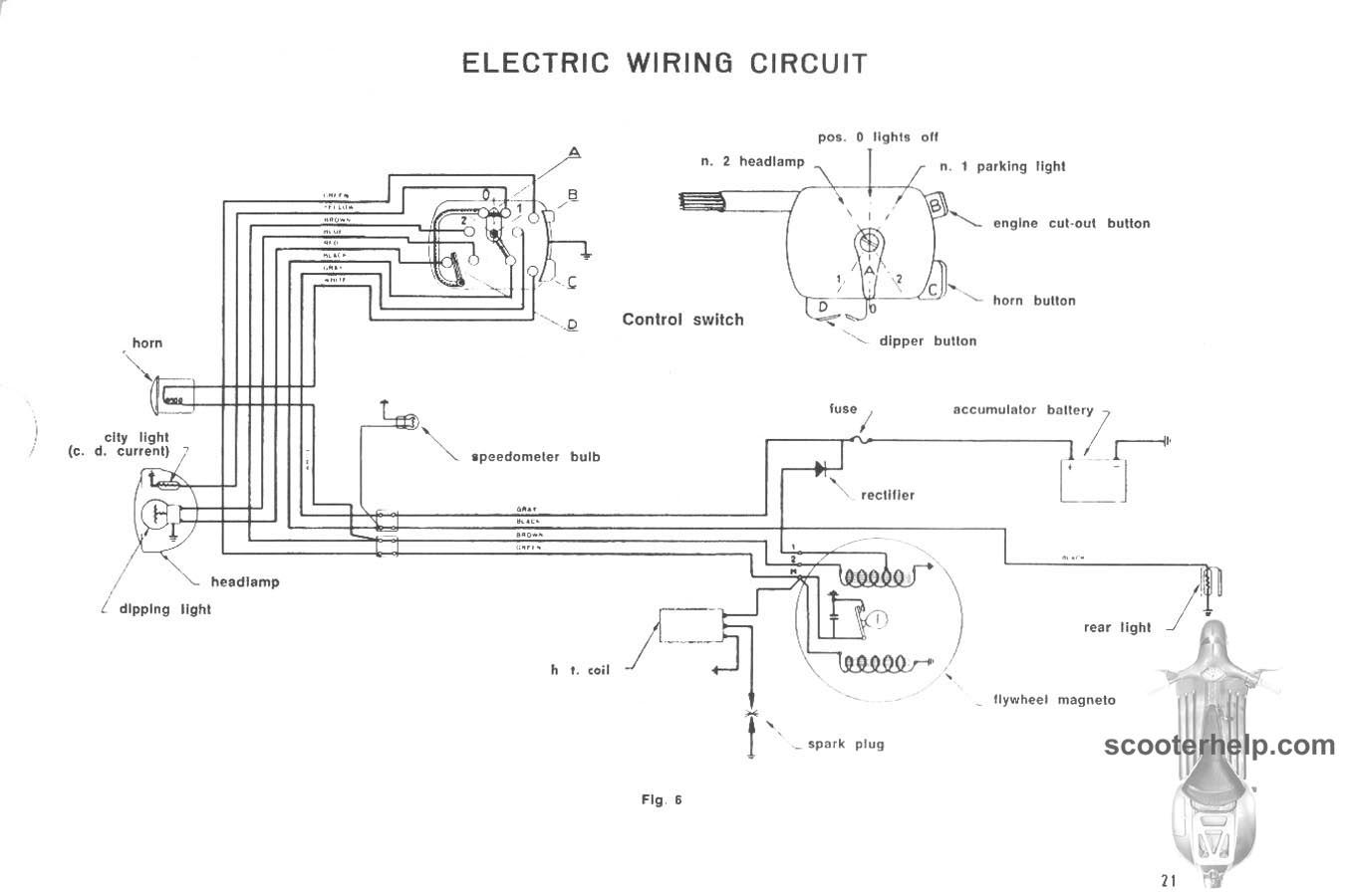 lambretta wiring diagram with indicators bubble blowing electric circuit 1953 ld lida and lila pinterest