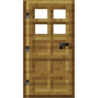 minecraft door. A lot of work.....