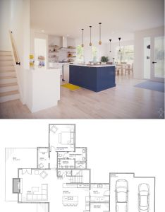 Our normande modern farmhouse floor plan is perfect for families with its open concept living space main level master bedroom and additional be  also rh pinterest
