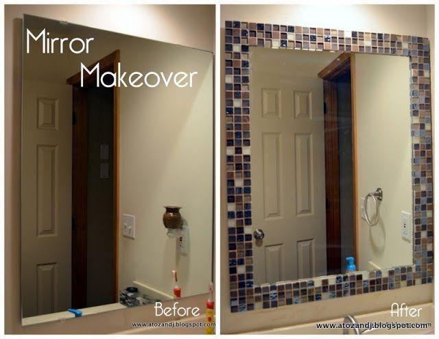 incredible bathroom makeover ideas anyone can diy | tile mirror