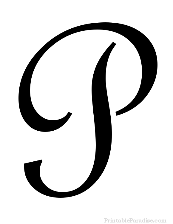 Printable Letter P In Cursive Writing DIY Pinterest P In