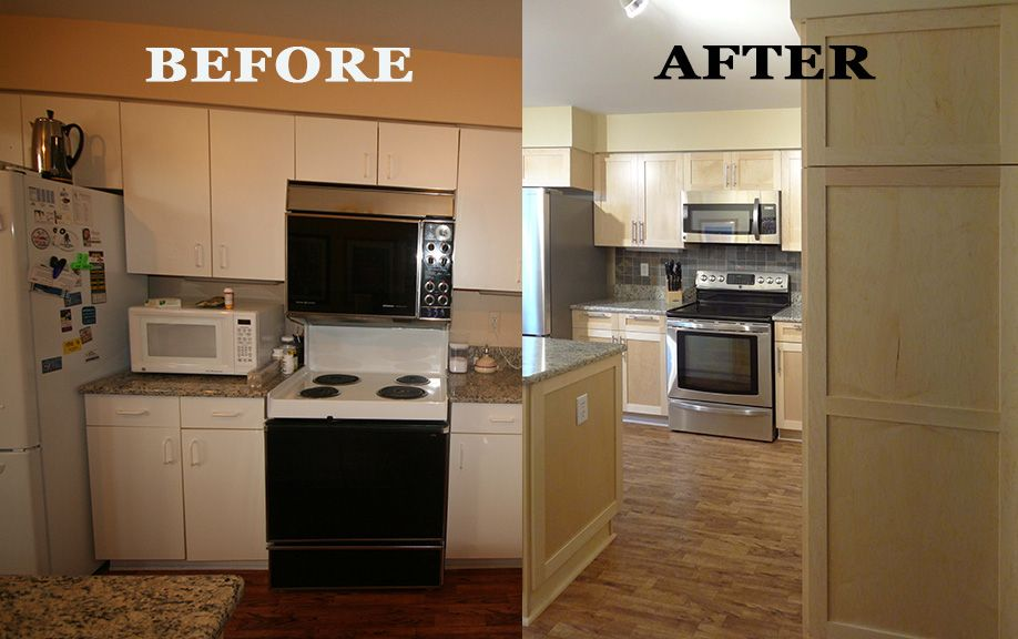 Kitchen refacing project by DreamMaker Ann Arbor showing