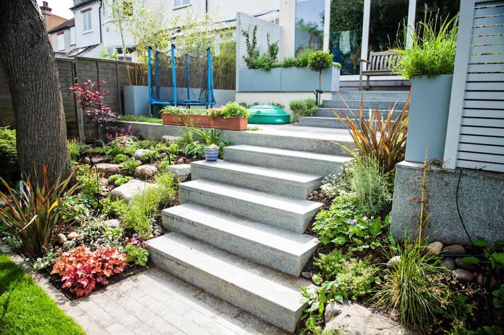 Stairs To Contemporary Garden Patio Google Search Backyard