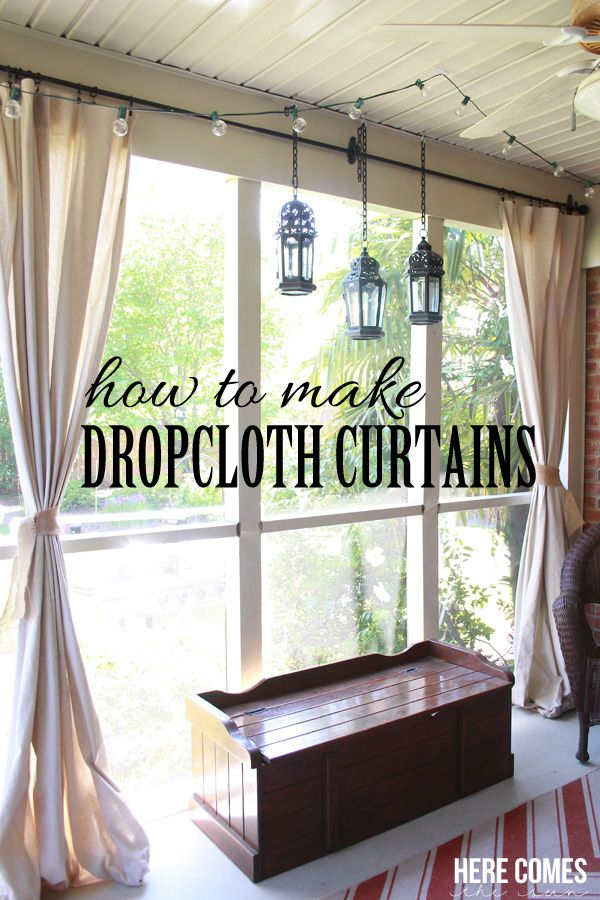 Drop Cloth Porch Curtains Porch Curtains Porch And Drop