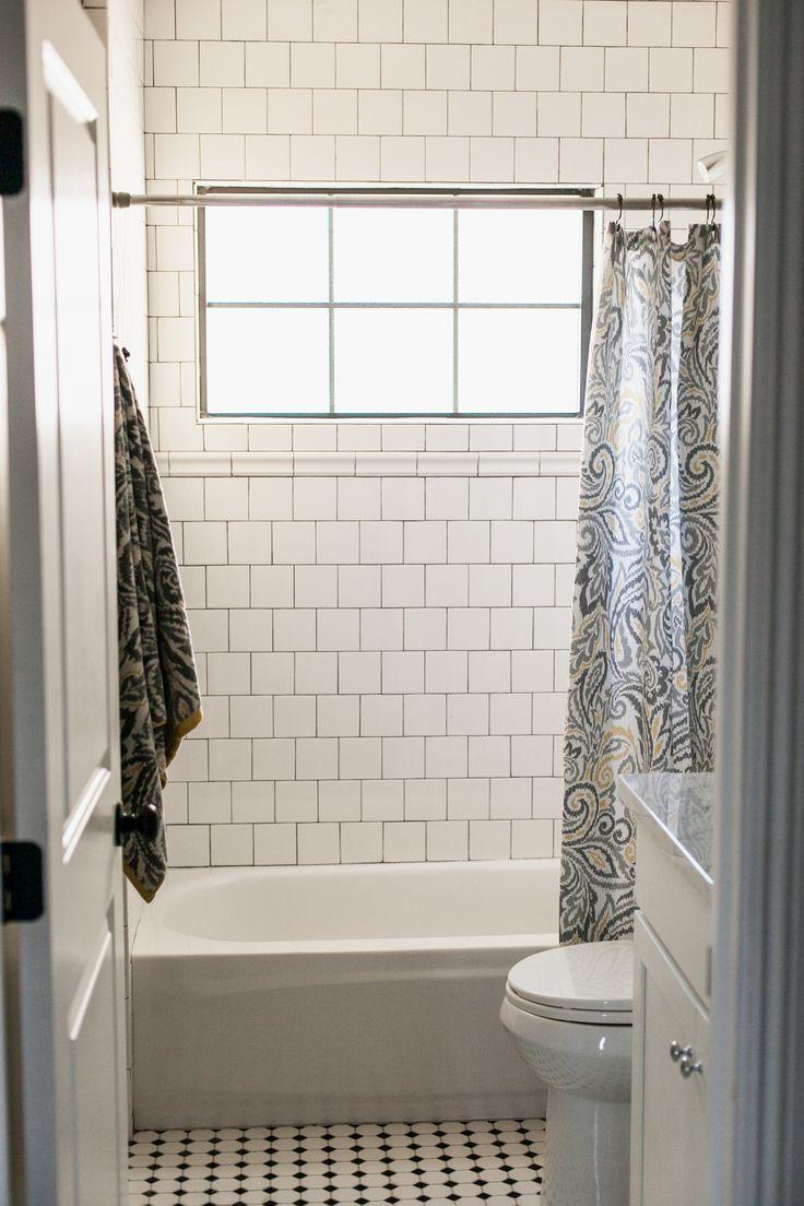 white 6x6 tile grey grout