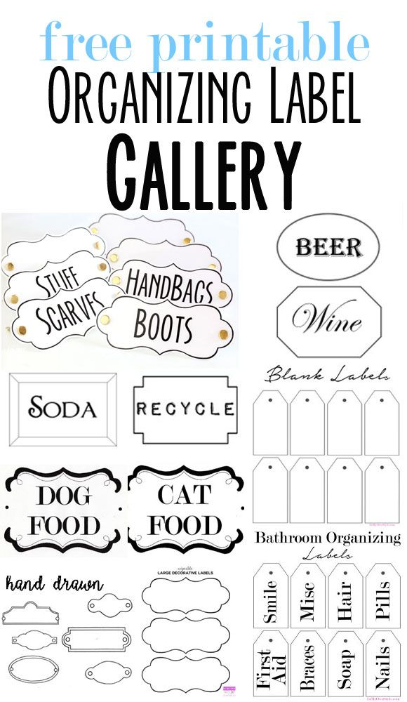 Free Printable Organizing Labels For All Your Stuff